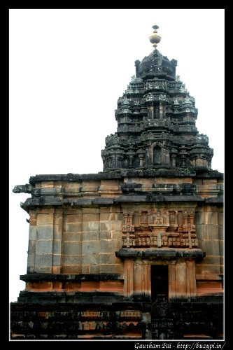 Aghoreshwara Temple, Ikkeri - a vertical view