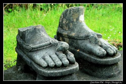 Feet of Choudeshwari Devi at Aghoreshwara Temple, Ikkeri